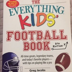 Everything football book with activities.